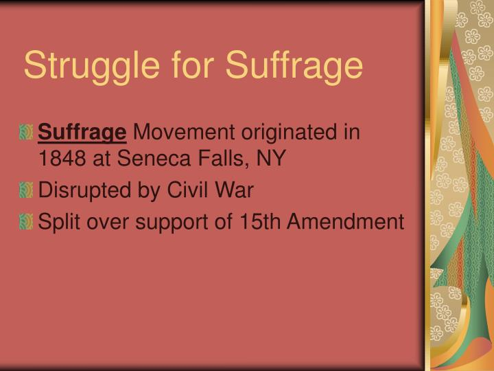 Struggle for Suffrage
