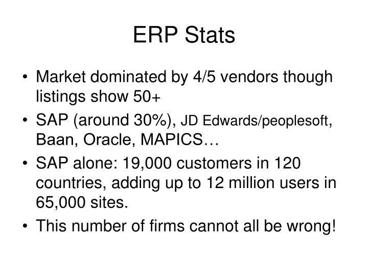 ERP Stats