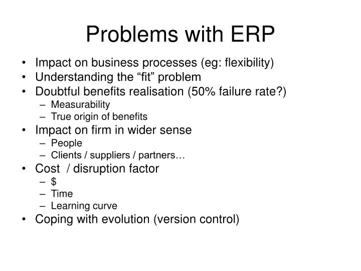 Problems with ERP