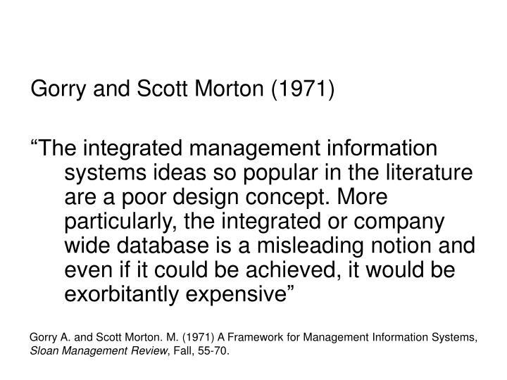 Gorry and Scott Morton (1971)