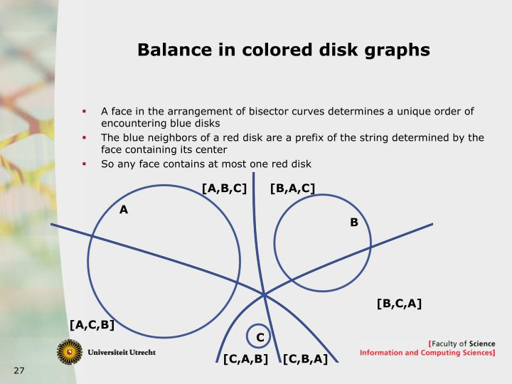 Balance in colored disk graphs