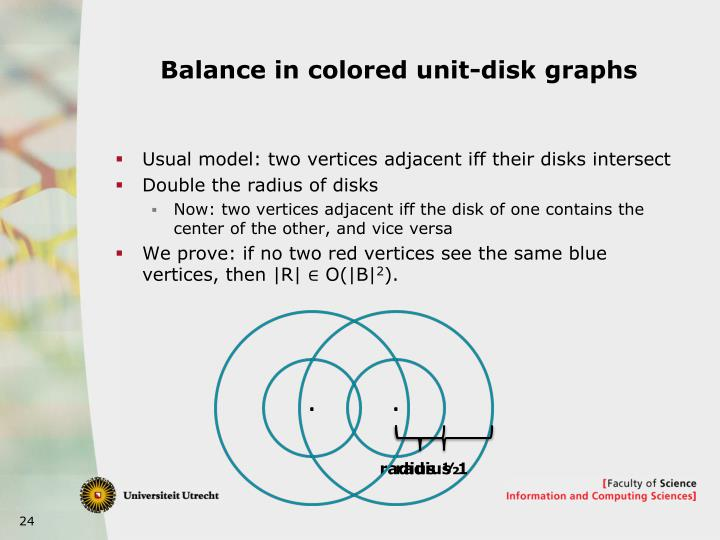 Balance in colored unit-disk graphs
