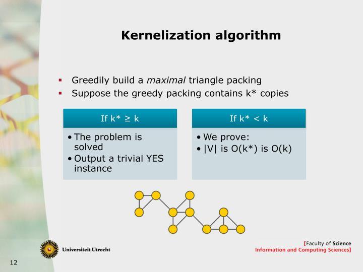 Kernelization algorithm