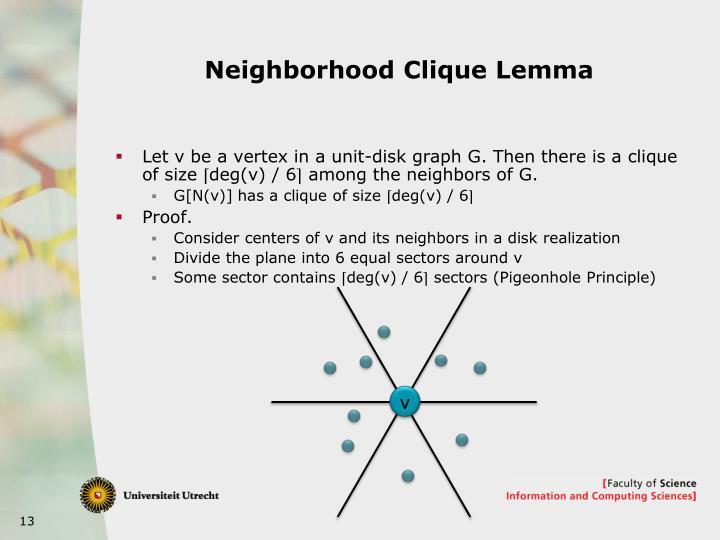 Neighborhood Clique Lemma