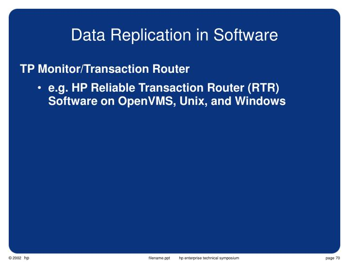 Data Replication in Software