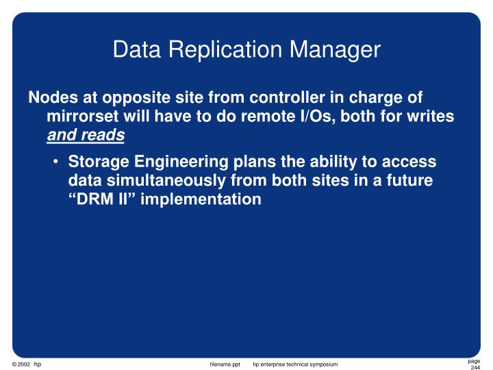 Data Replication Manager