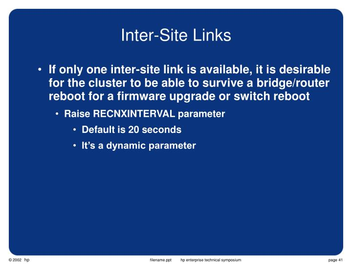 Inter-Site Links