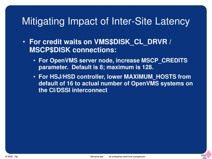 Mitigating Impact of Inter-Site Latency