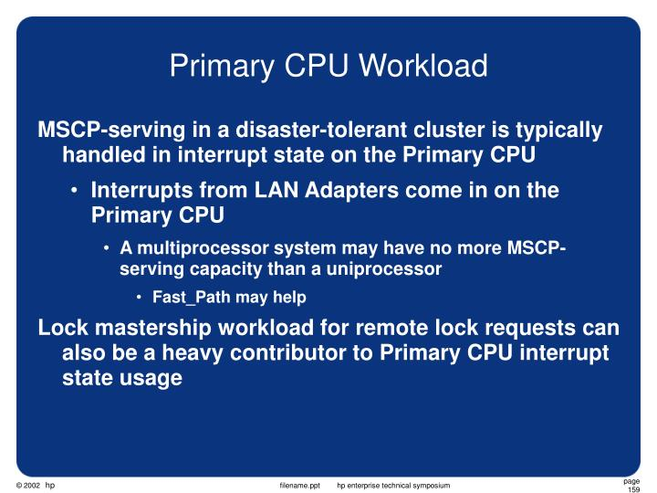 Primary CPU Workload