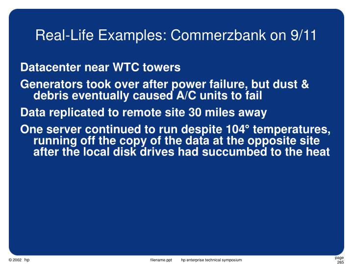 Real-Life Examples: Commerzbank on 9/11