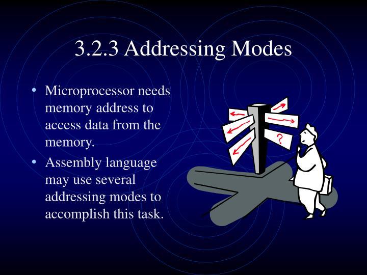 3.2.3 Addressing Modes