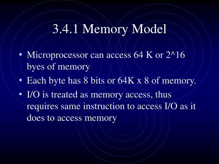 3.4.1 Memory Model