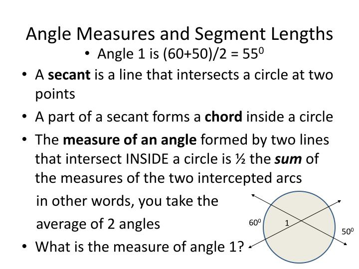 Angle Measures and Segment Lengths