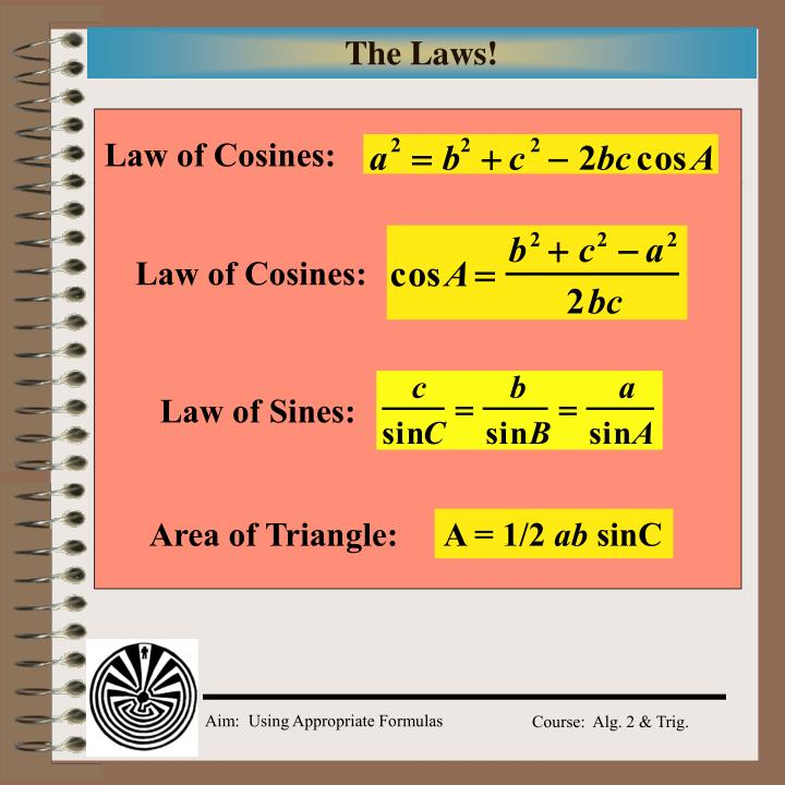 Law of Cosines: