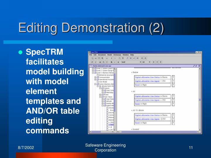 Editing Demonstration (2)