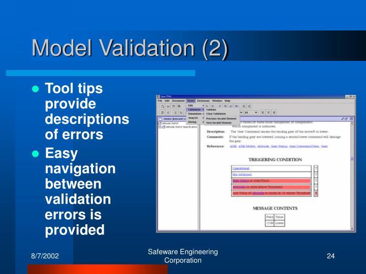 Model Validation (2)