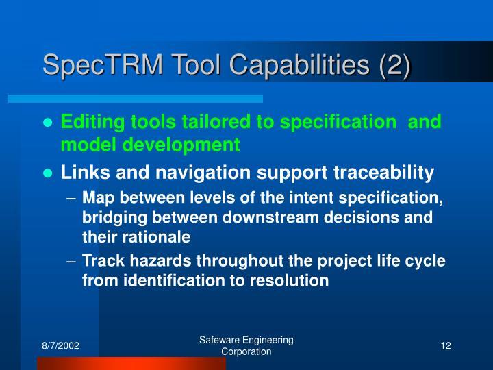 SpecTRM Tool Capabilities (2)