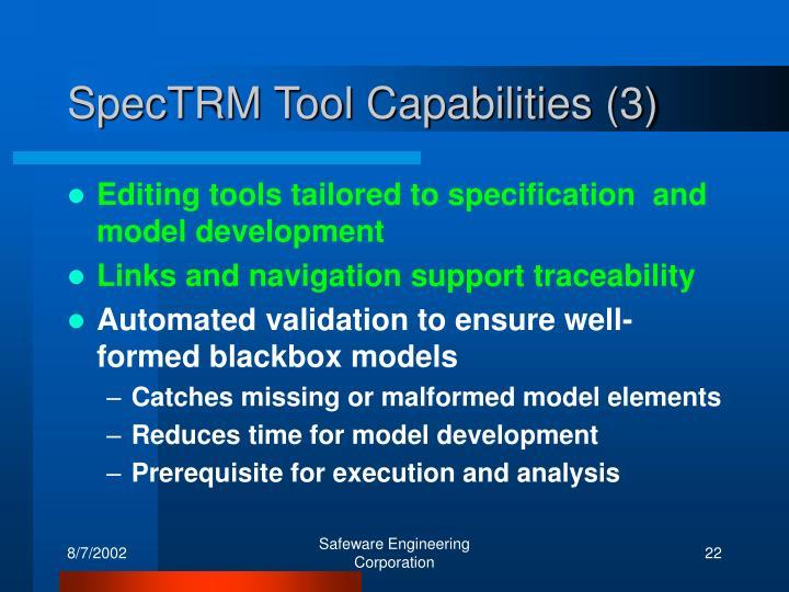 SpecTRM Tool Capabilities (3)