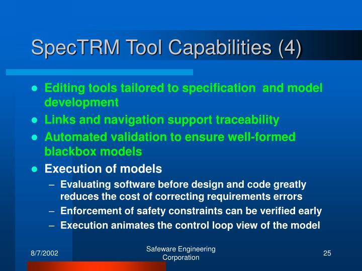 SpecTRM Tool Capabilities (4)