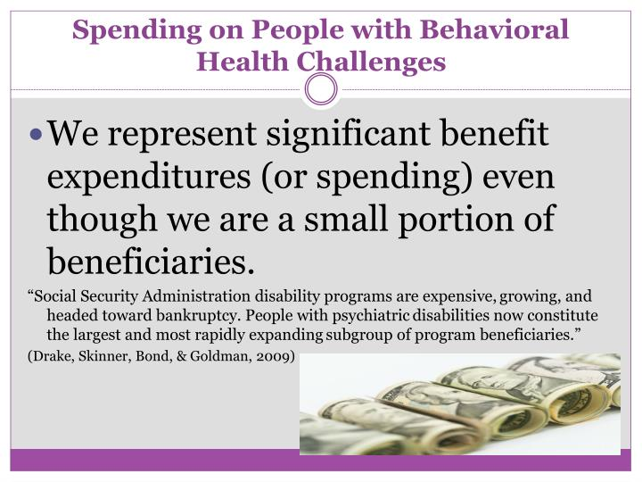 Spending on People with Behavioral Health Challenges