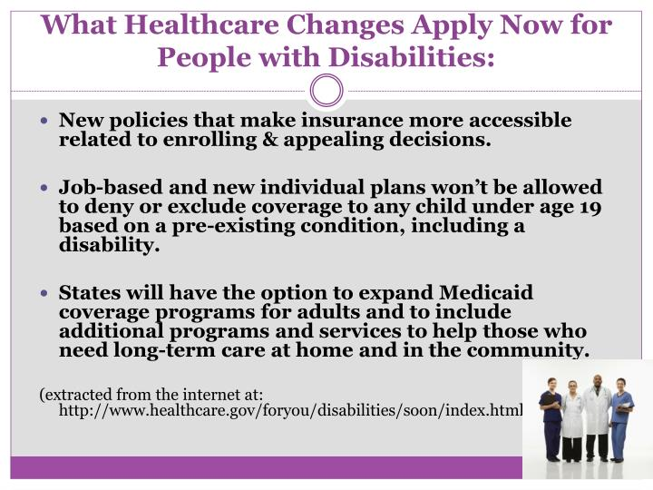 What Healthcare Changes Apply Now for People with Disabilities: