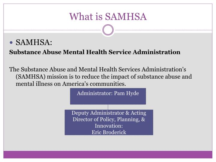 What is SAMHSA