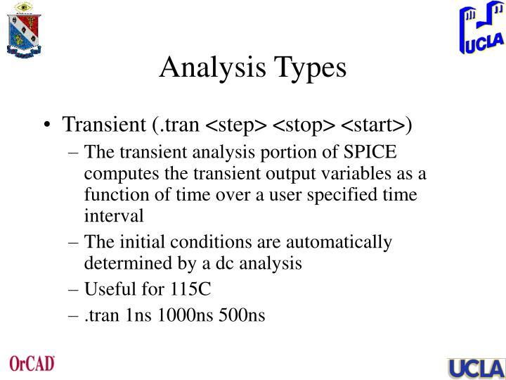 Analysis Types