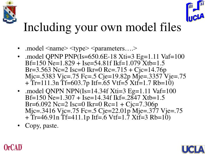 Including your own model files