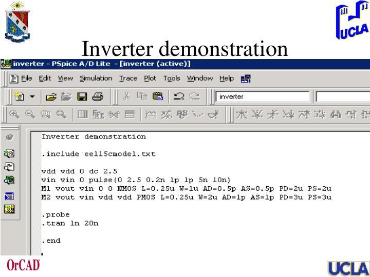 Inverter demonstration