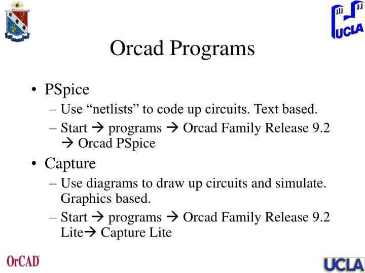 Orcad Programs