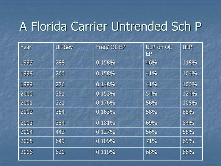 A Florida Carrier Untrended Sch P