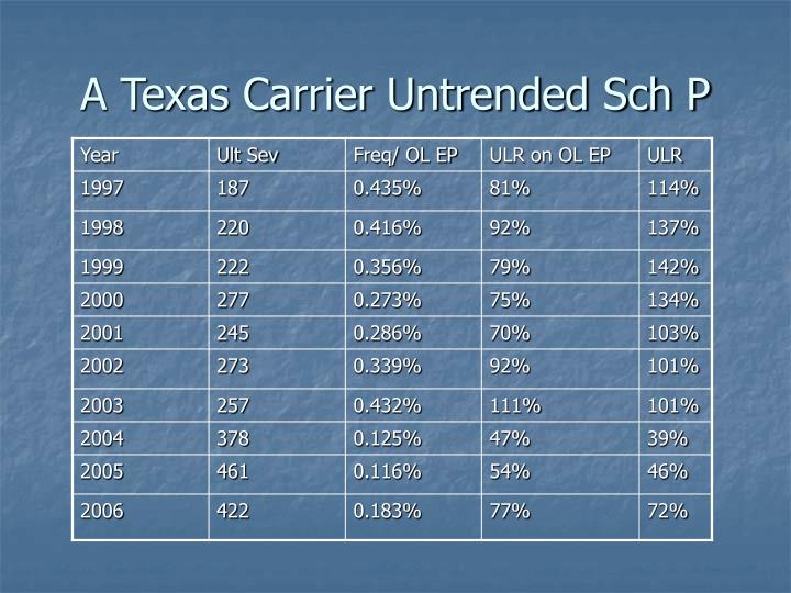 A Texas Carrier Untrended Sch P