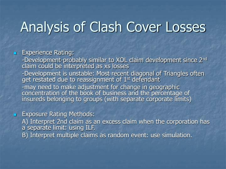 Analysis of Clash Cover Losses