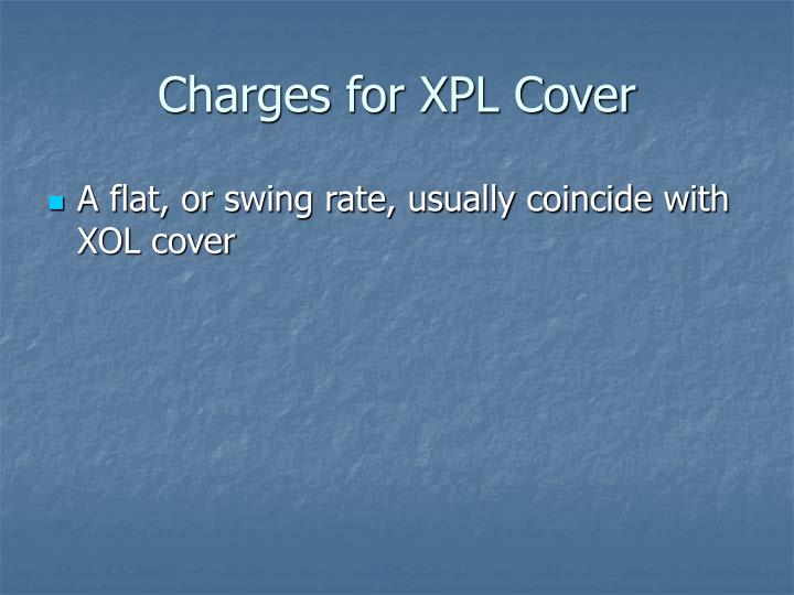 Charges for XPL Cover