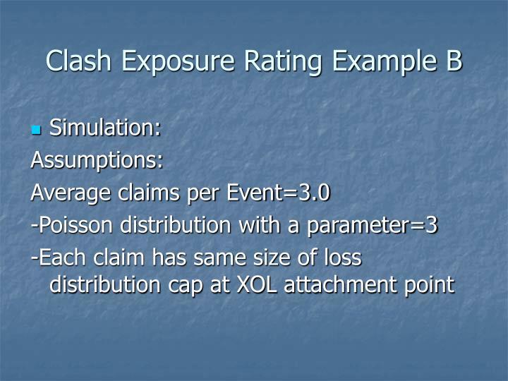 Clash Exposure Rating Example B