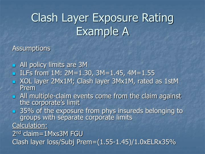 Clash Layer Exposure Rating Example A