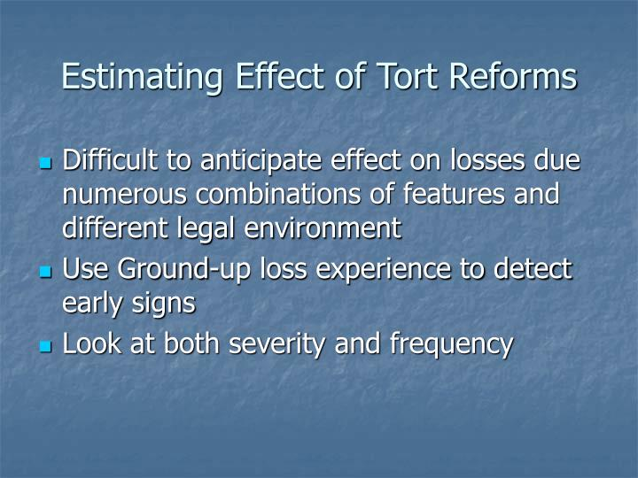 Estimating Effect of Tort Reforms