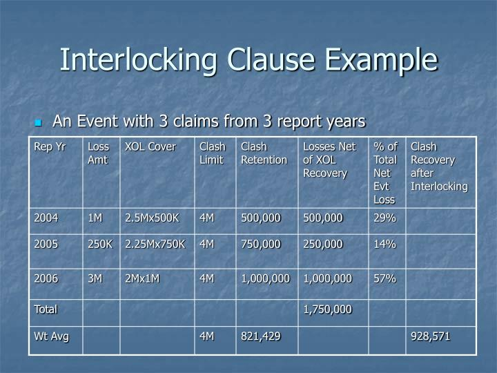 Interlocking Clause Example