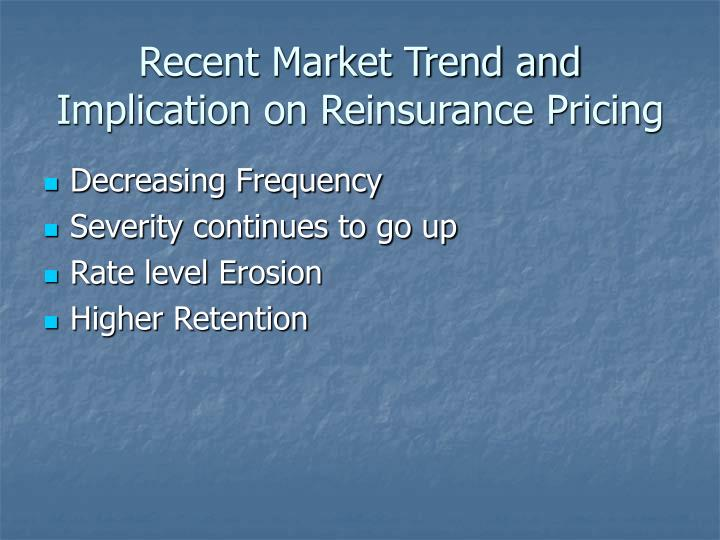 Recent Market Trend and Implication on Reinsurance Pricing