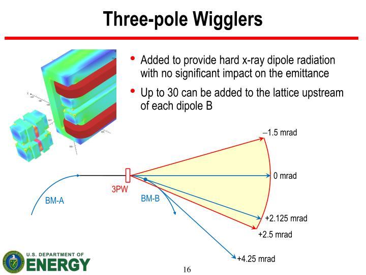 Three-pole Wigglers