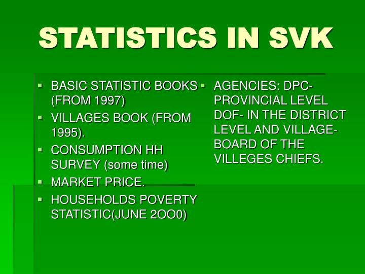 BASIC STATISTIC BOOKS (FROM 1997)