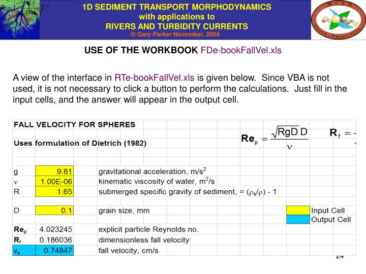 USE OF THE WORKBOOK