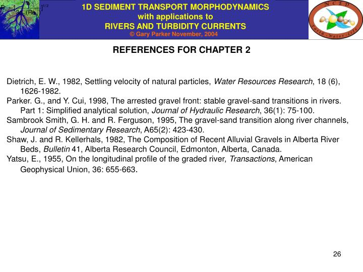 REFERENCES FOR CHAPTER 2