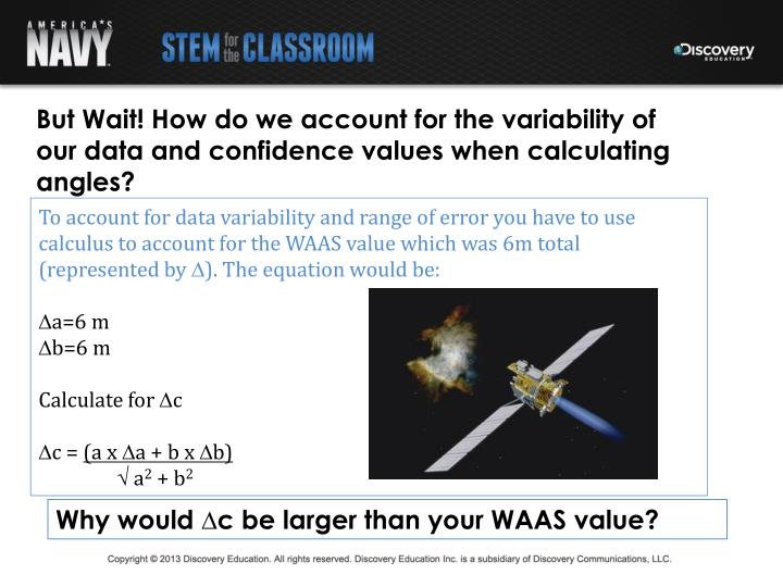 But Wait! How do we account for the variability of our data and confidence values when calculating angles?