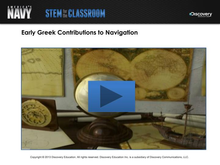 Early Greek Contributions to Navigation