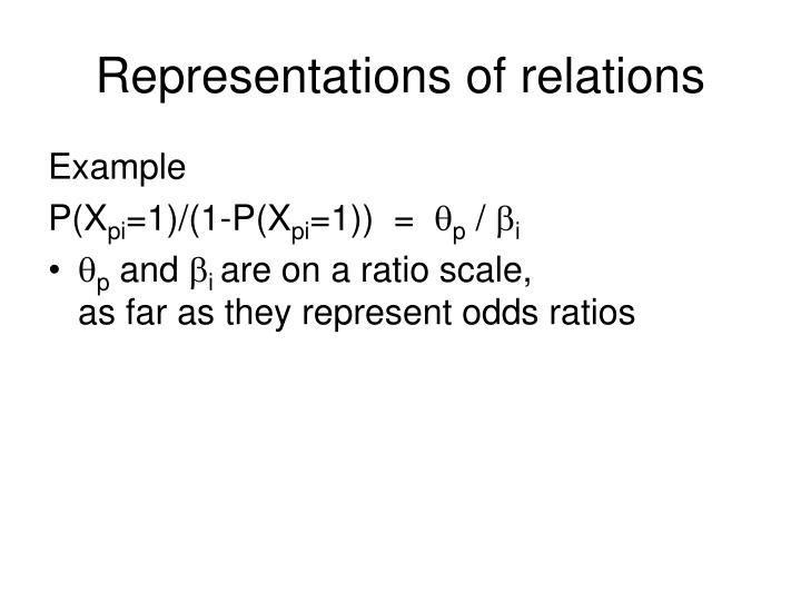 Representations of relations