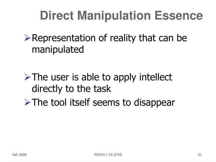 Direct Manipulation Essence
