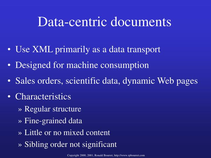 Data-centric documents
