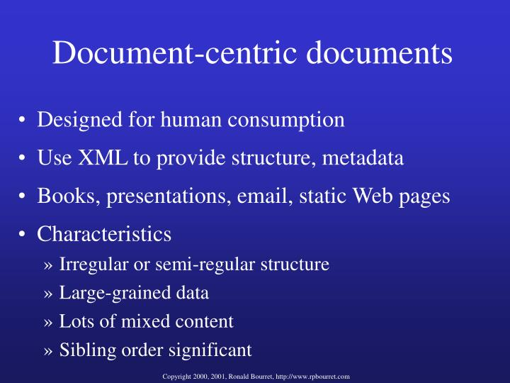 Document-centric documents