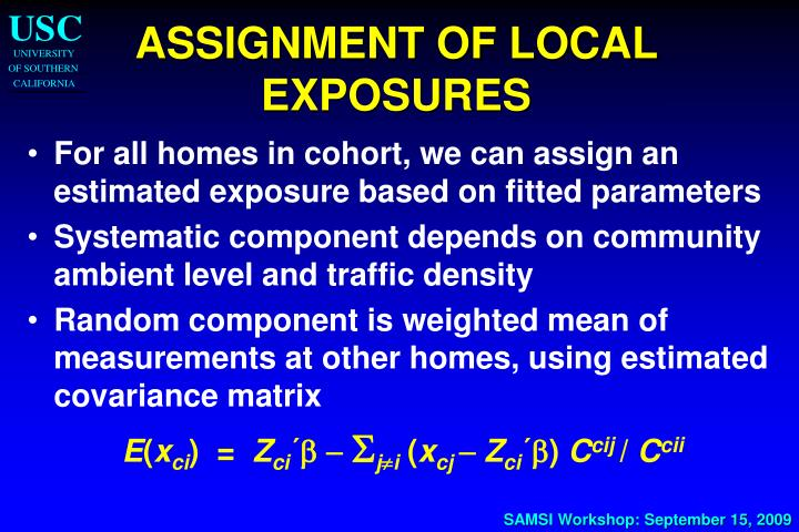 ASSIGNMENT OF LOCAL EXPOSURES